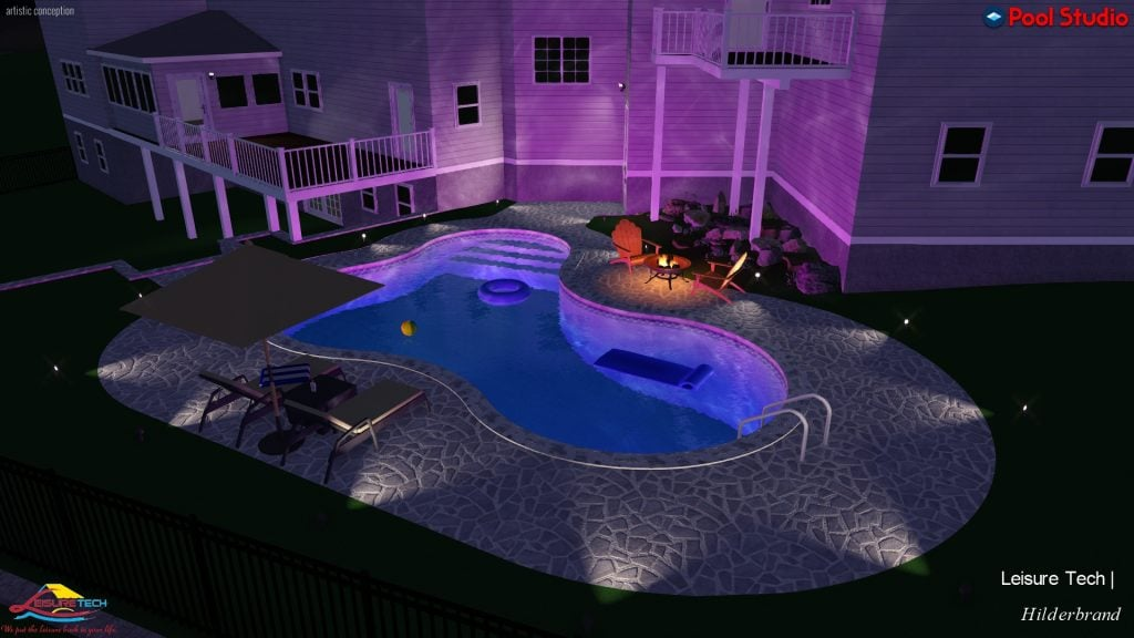 3D Pool at Night