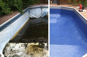 Before and After | Swimming Pool Liner Replacement