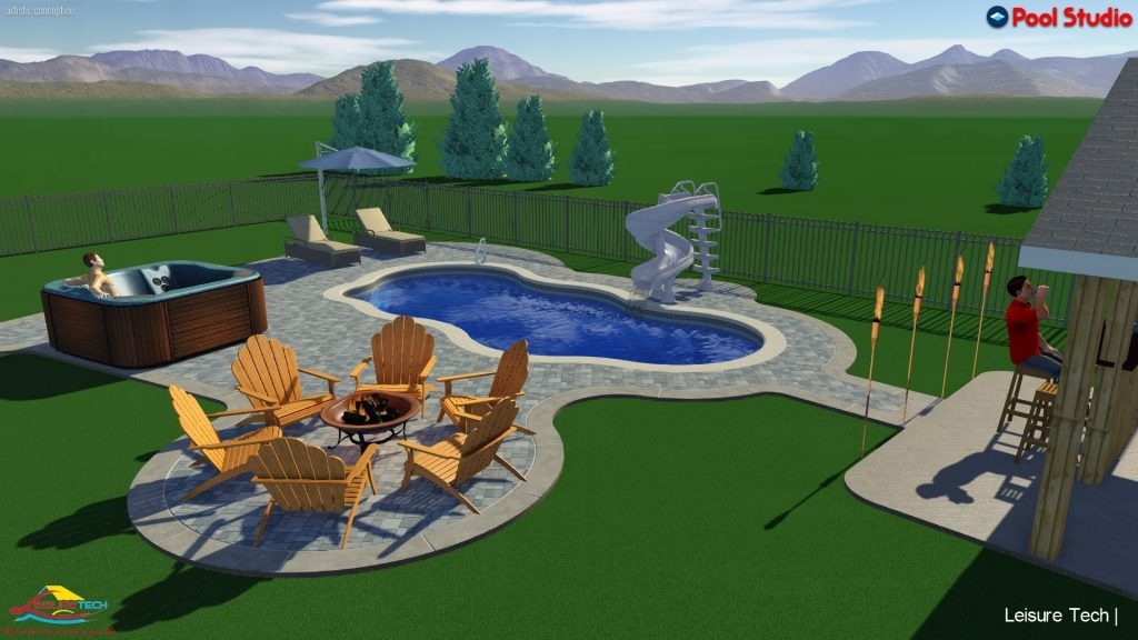 3D Firepit, Jacuzzi, Pool and other Hardscapes