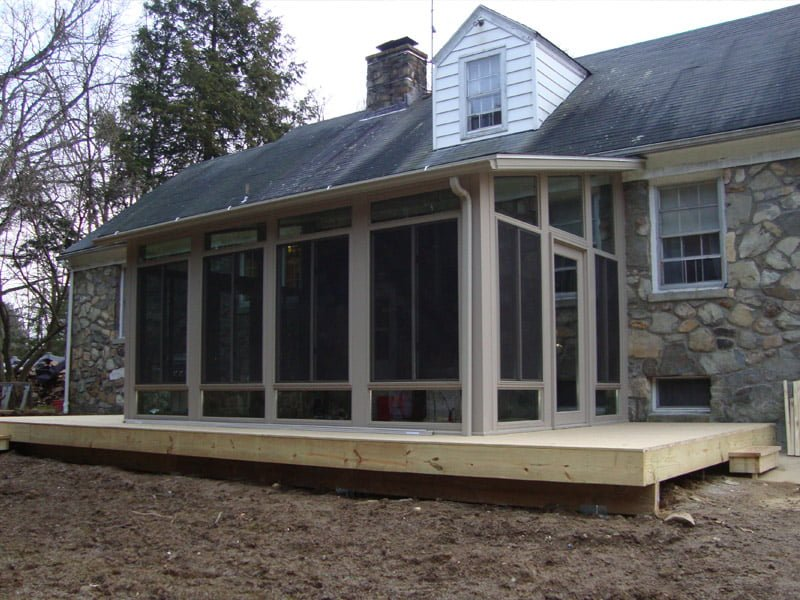 Construction of Sunroom