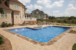 v-shape Pool with Patio